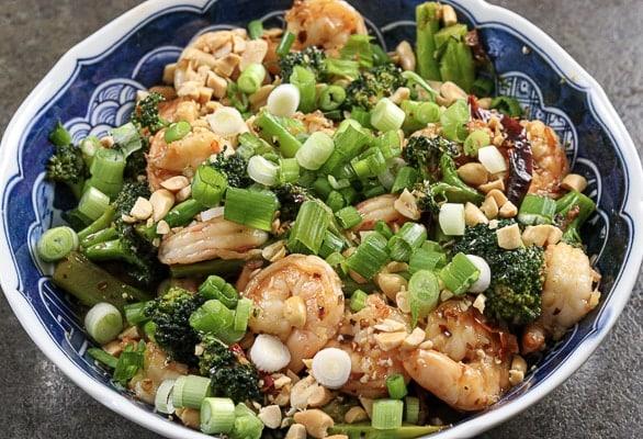 Spicy Garlic Shrimp and Broccoli Sir Fry