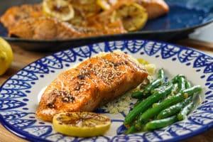 Air Fryer Bourbon Glazed Salmon