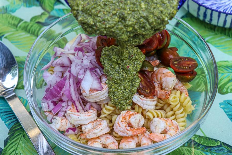 Pesto Pasta Salad Steps